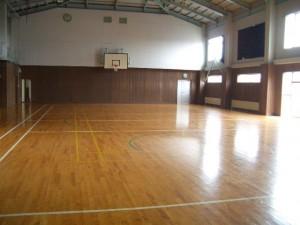 雨の日でも遊べる体育館があります。