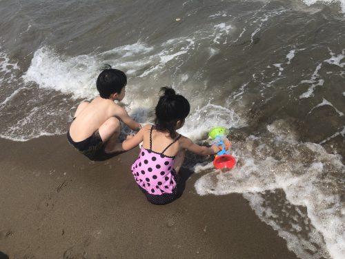 幼児海水浴2018
